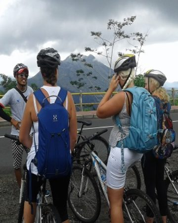 Mount Cycling - enjoy and see the view beautiful Volcano of mount Batur