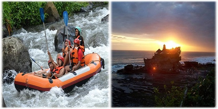 RAFTING, UBUD TOUR, TANAH LOT SUNSET